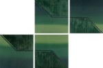 Polyptych in green