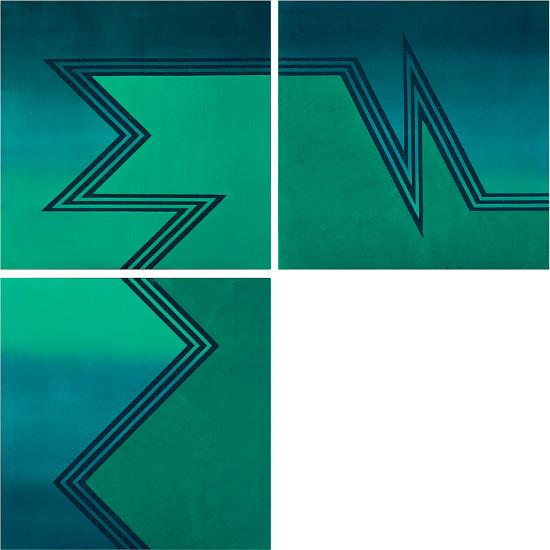 Triptych in green